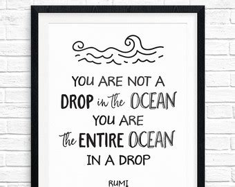 printable drop quotes rumi drop quote etsy