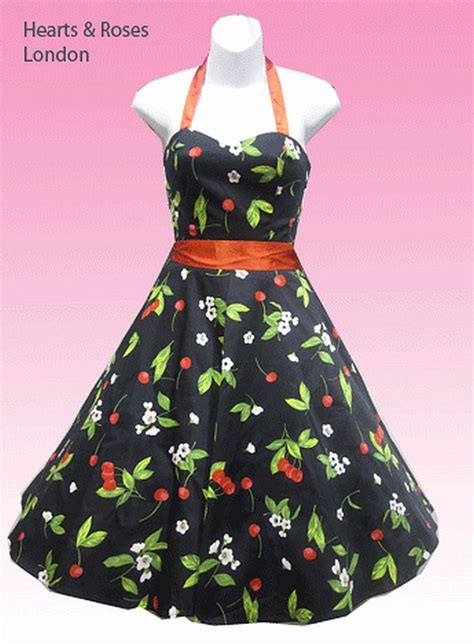 cherry swing dress h r london black and red cherry halter swing dress