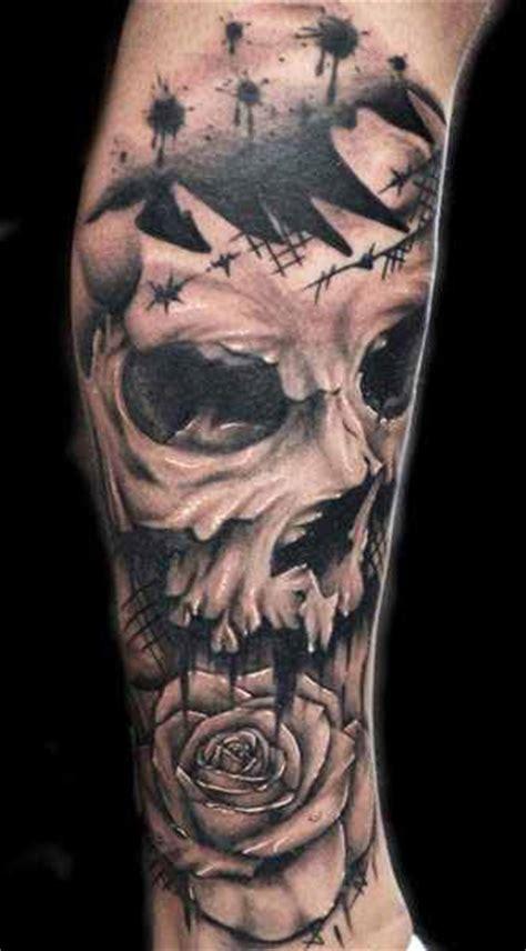 carpenter tattoos sleeve skull by joe carpenter design of