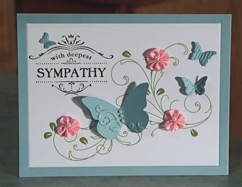 Handmade Sympathy Card - handmade sympathy card stin up thanks for caring
