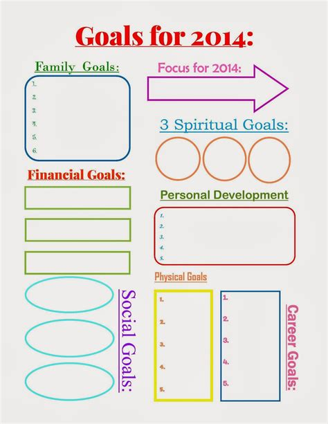 goal sheet template 5 benefits to writing your goals a free printable