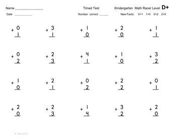 sle of kindergarten test kindergarten common math fluency tests addition and
