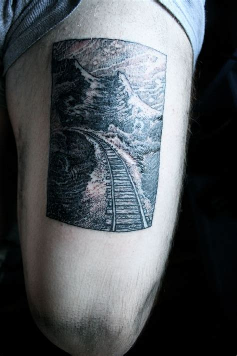 train track ocean tattoo ink piercings paint