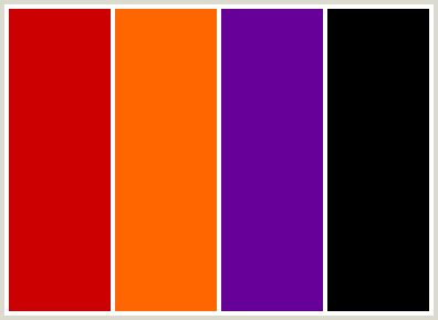 purple and orange color scheme colorcombo83 with hex colors cc0000 ff6600 660099 000000