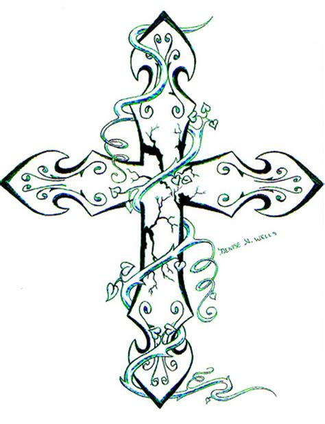girly cross tattoos design girly cross tattoos