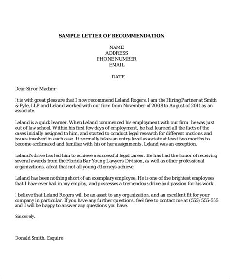 sample recommendation letter templates ms word