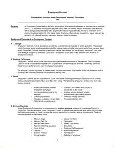 Employee Contract Template Uk by Doc 819521 Free Employee Contract Template Contracts Of