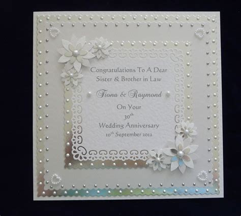 personalised pearl 30th wedding anniversary card with or without matching box ebay