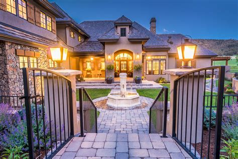 amazing Ranch Style House Characteristics #4: french-country-ranch-style-home-gated-entrance.jpg