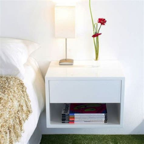 Wall Mounted Nightstand With Drawer by Floating Bedside Shelf With Drawer 16 Image Wall Shelves