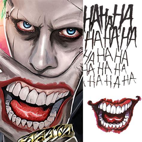 joker tattoo cost aliexpress com buy 4 styles halloween cosplay the joker