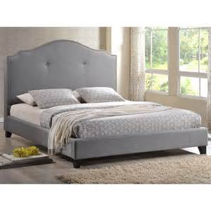 Size Bed Headboard Baxton Studio Stella Tufted White Modern Bed With