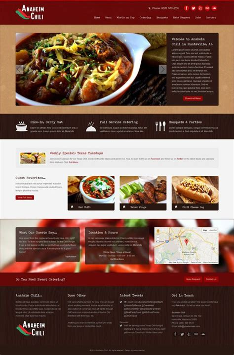 bootstrap themes bakery web design for anaheim chili in huntsville al