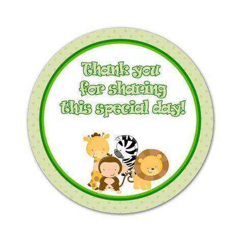 free printable zebra thank you tags green jungle safari party thank you tag zebra giraffe