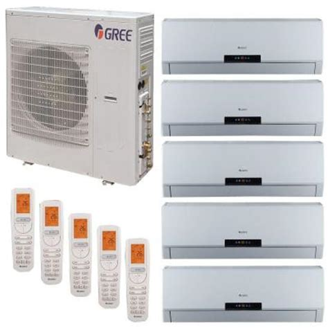 gree multi 21 zone 42 000 btu 3 5 ton ductless mini split