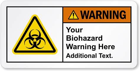 printable warning stickers customizable biohazard ansi warning label sku lb 3474