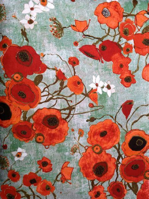 Poppy Upholstery Fabric Karen Tusinski Designer Fabric Gallery Fiori Poppies By