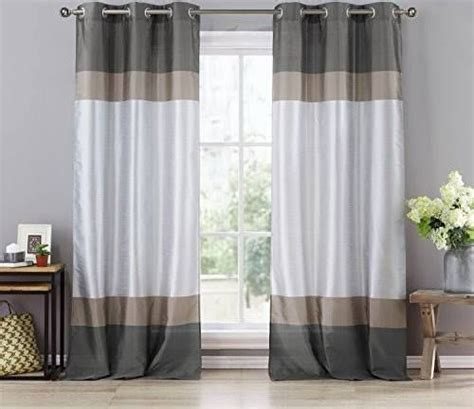 white and gray color block curtains best 25 color block curtains ideas on blue