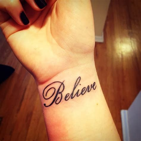 word believe tattoo designs one word tattoos designs ideas and meaning tattoos for you