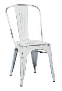 White Metal Dining Chairs Vintage Metal Dining Chair Distressed White Osp Designs Brw29a4 Aw Bristow