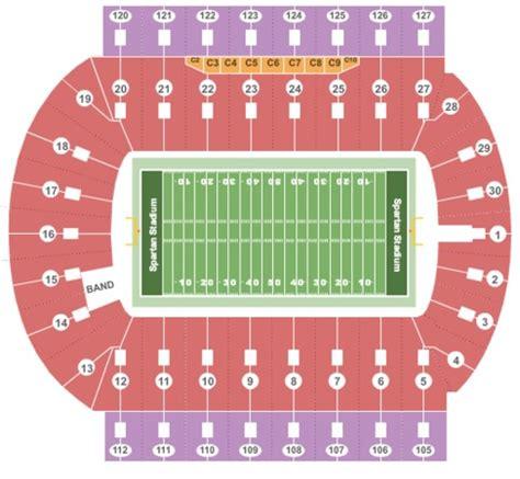 of stadium seating capacity spartan stadium tickets in east lansing michigan spartan