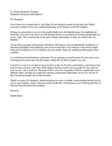 letter to say thank you to all valued customers
