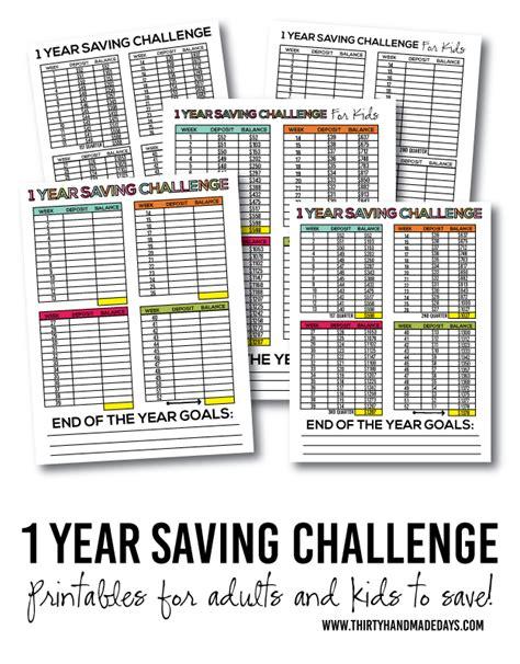 one year savings challenge how to make saving goals