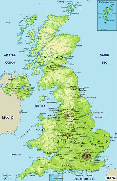map of britain maps of britain political physical and road mapsof great britain