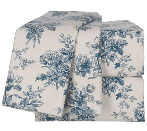 Northern Nights Bedding by Northern Nights Flower Toile Chunky C K Flannel