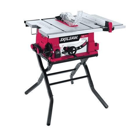 table saw skil 15 corded electric 10 in table saw with folding stand 3410 02 the home depot