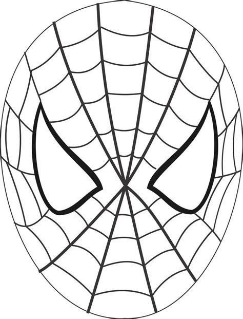 printable spider mask template spiderman face template cliparts co