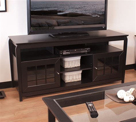 mentor tv techcraft furniture bay6028 black 60 inch
