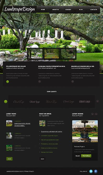 landscape templates free landscaping design website free pdf