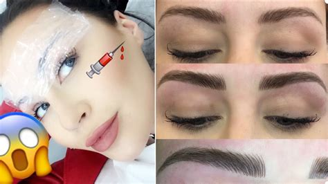 how is 1 in years mircroblading tattooed eyebrows 1 year update before and after cc clarke