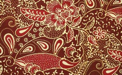 motif batik flora  contoh batik bermotif tumbuhan