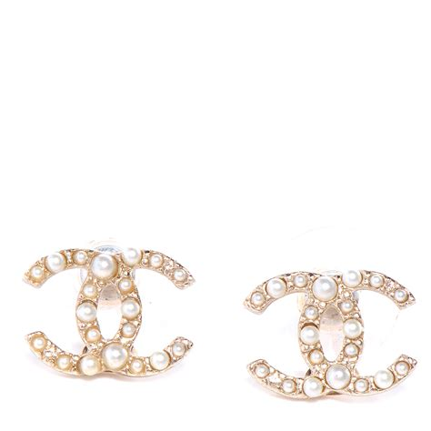chanel cc logo earrings large gold jewelry