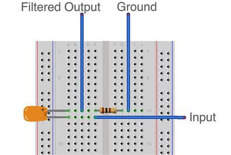 high pass filter breadboard passive filter circuits