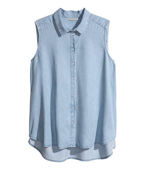 sleeveless blouse blue sleeveless blouse clothing