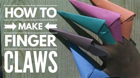 Where Can I Make Paper Copies - copy of how to make a easy paper finger claws