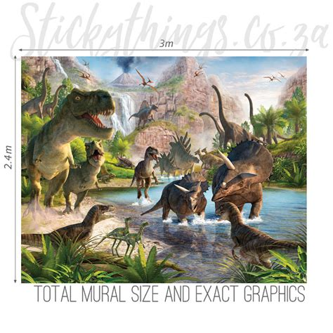 dinosaur wall murals dinosaur wall mural realistic dinosaur land wallpaper