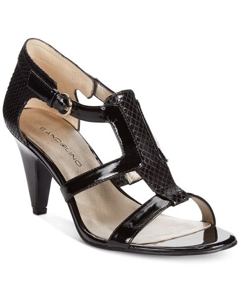bandolino sandals bandolino dacia sandals in black lyst