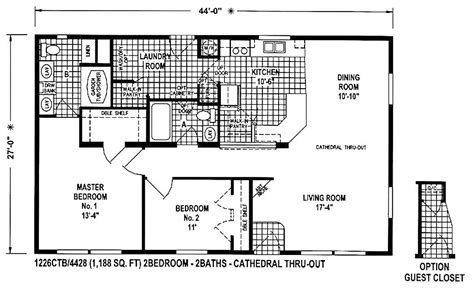 manufactured home floor plans 1998 chion mobile home floor plans