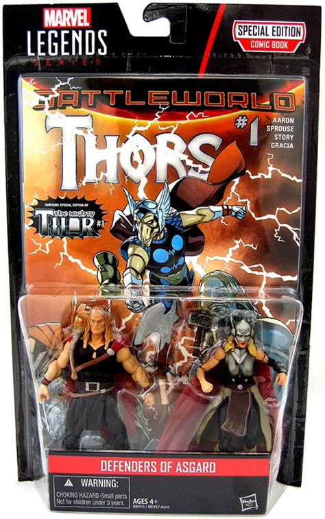Hasbro Marvel Legends Series Comic 2 Pack Defenders Of Asgard odinson and thor marvel legends figure comic 2 pack series at cmdstore