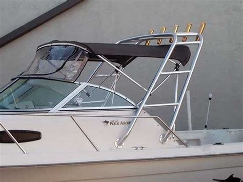 boat arch with bimini top custom radar arches for your boat by cape coral welder