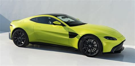 lime green aston martin 2018 aston martin vantage revealed looks weird