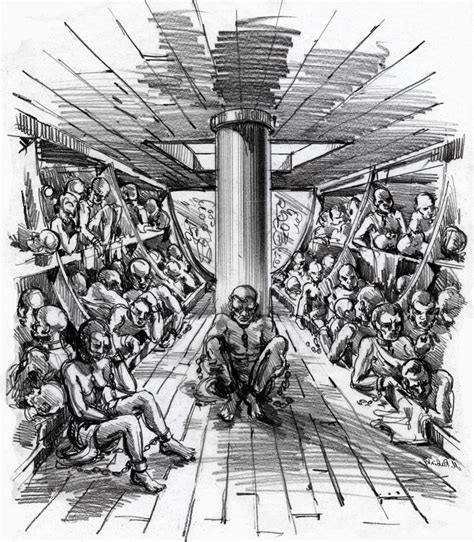 slave boat slavetrade between africa and the caribbean from start to end