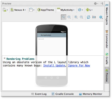 android studio layout tools android studio 0 8 11 released android studio project site