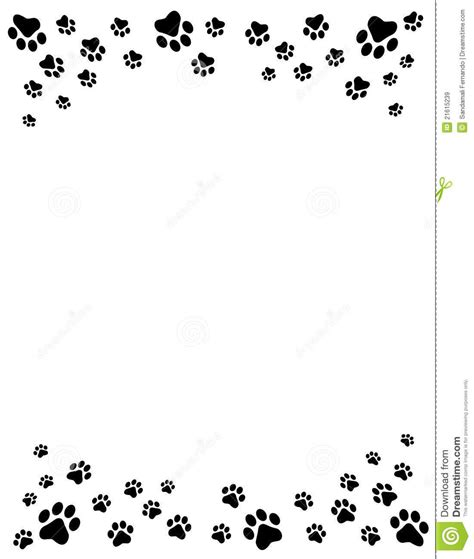 Paw Print Page Border Clip by Free Cat Clip Cat And Free Clip Borders Paw