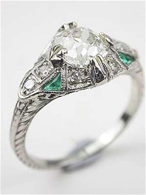 antique wedding rings atlanta topazery spotlights emerald accent engagement ring like