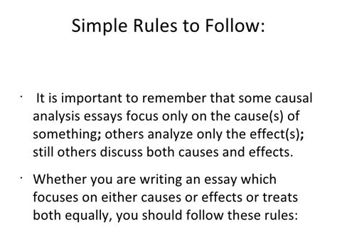 Causal Essay by The Causal Analysis Essay